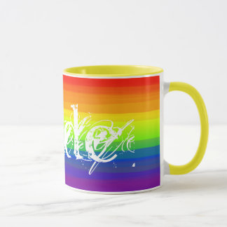 Gay Pride Rainbow Colors LGBT Gift Idea Mug
