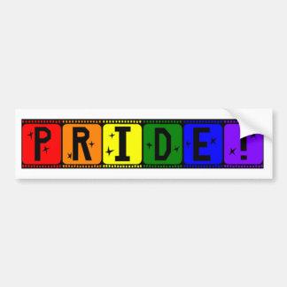Gay Pride Rainbow Filmstrip Bumper Sticker