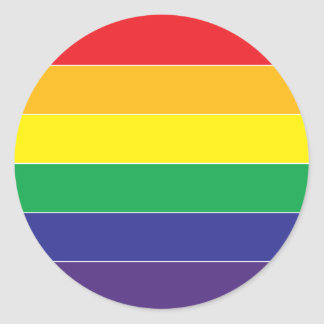 Gay Pride Rainbow Flag Colors Round Sticker