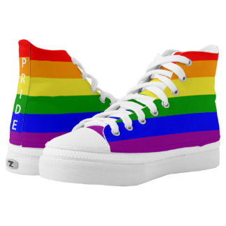 Gay Pride Rainbow Flag High Tops