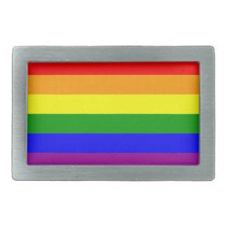 Gay Pride Rainbow Flag Rectangular Belt Buckle