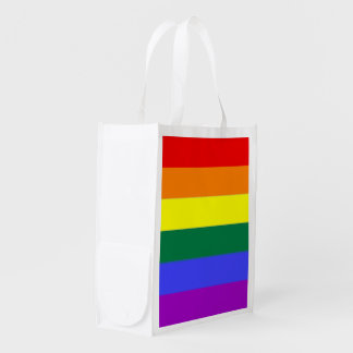 Gay Pride Rainbow Flag Reusable Grocery Bag