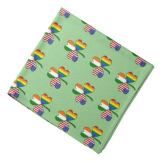 Gay Pride Rainbow Flag Shamrock Bandana