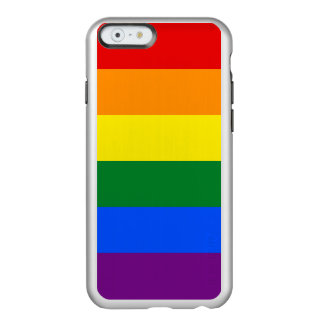 Gay Pride Rainbow Flag Silver iPhone Case Incipio Feather® Shine iPhone 6 Case