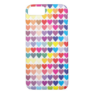 Gay Pride Rainbow Hearts iPhone 7 Case