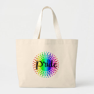 Gay Pride Rainbow Large Tote Bag