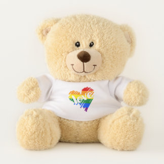 Gay Pride Rainbow LGBT Love heart Teddy Bear