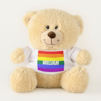Gay Pride Rainbow LGBT Personalized Teddy Bear