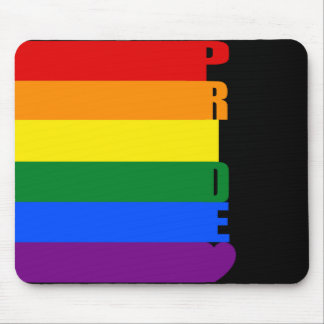 gay pride rainbow mouse pad