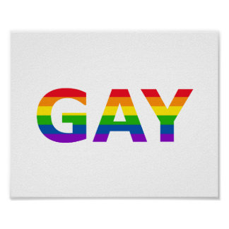 Gay Pride Rainbow Quote Poster