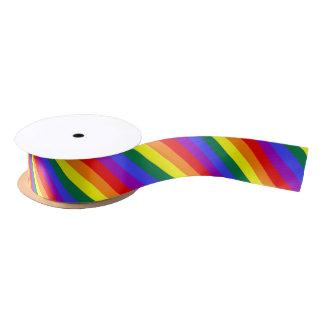Gay Pride Rainbow Striped Satin Ribbon