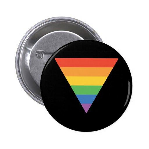 Gay Pride Rainbow Triangle Button