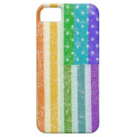 Gay Pride Rainbow US Flag iPhone 5 Cover