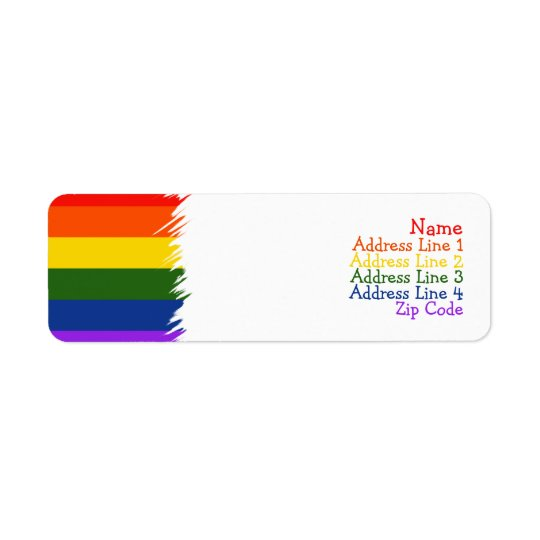 Gay Pride Return Address Label