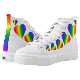 Gay Pride Sneakers Rainbow Love Shoes