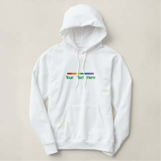 Gay pride Strip Personalized Embroidered Hoody