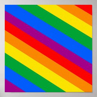 Gay Pride Stripes Poster