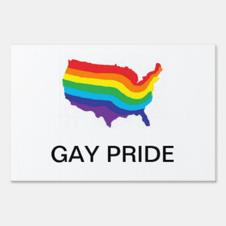 GAY PRIDE YARD SIGN