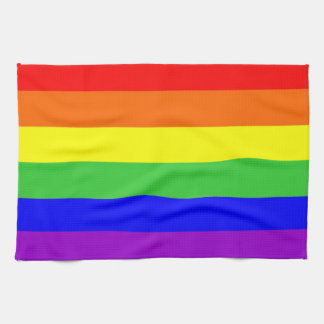 gay proud rainbow colors flag homosexual kitchen towel