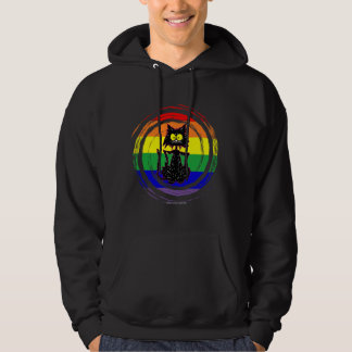 Gay Rainbow Cat Hoodie