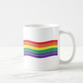 Gay Rainbow Chevron Waves Pattern Coffee Mug