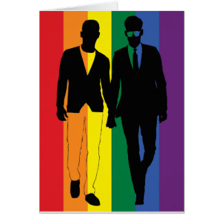 Gay Rainbow Couple from Bent Sentiments Card