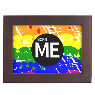Gay Rainbow Flag Born This Way Memory Boxes