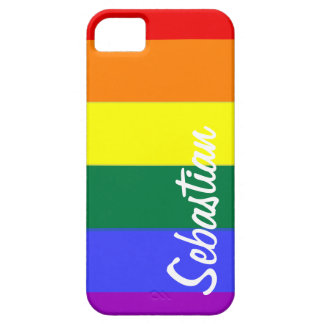 Gay Rainbow Pride Personalized iPhone 5 Case