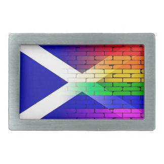Gay Rainbow Wall Scotland Flag Belt Buckle