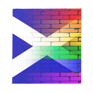 Gay Rainbow Wall Scotland Flag Notepads