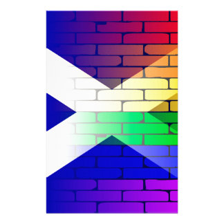 Gay Rainbow Wall Scotland Flag Stationery Design