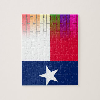 Gay Rainbow Wall Texan Flag Puzzle