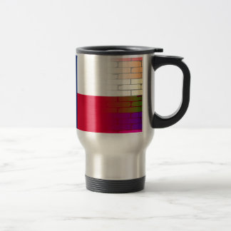 Gay Rainbow Wall Texan Flag Travel Mug