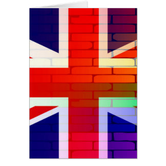 Gay Rainbow Wall Union Jack Card