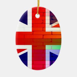 Gay Rainbow Wall Union Jack Ceramic Oval Ornament