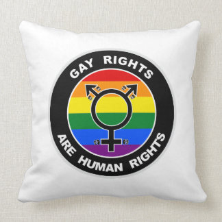 Gay Rights Are Human Rights Throw Pillows