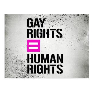 Gay Rights equal Human Rights - - LGBTQ Rights - . Postcard