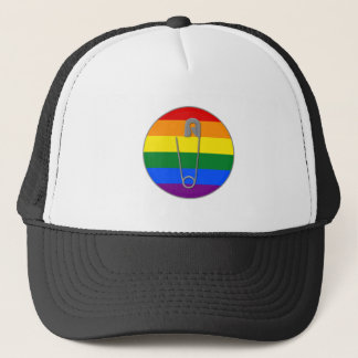 Gay Rights Safety Pin Trucker Hat