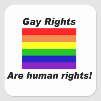 Gay Rights Square Sticker