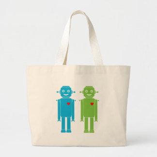 Gay Robots Large Tote Bag