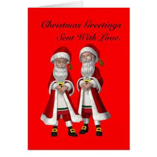 Gay, Sent With Love Christmas Card