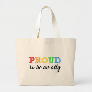 Gay Straight Alliance Ally Large Tote Bag