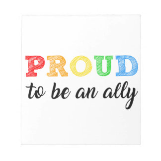 Gay Straight Alliance Ally Notepad