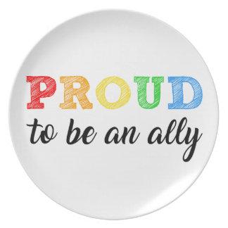 Gay Straight Alliance Ally Plate