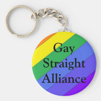 Gay Straight Alliance Keychain