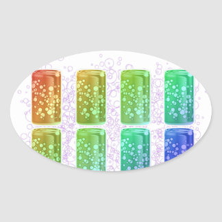 Gay Thirst Oval Sticker