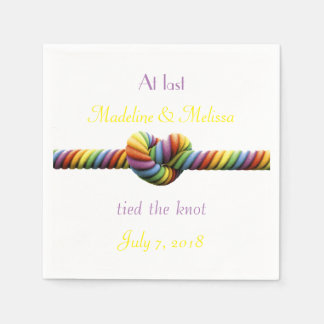 Gay Tied the Knot Wedding Napkins Paper Napkins