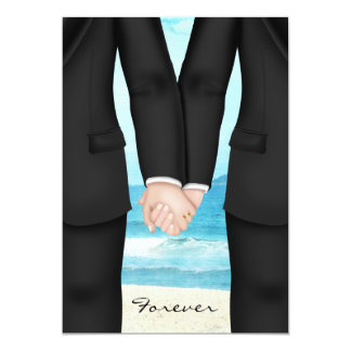 Gay Two Grooms Beach Destination Card