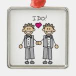 Gay Wedding Groom Ornaments