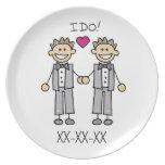 Gay Wedding Groom Plates